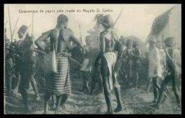 GUINÉ-BISSAU - COSTUMES - Escaramuça De Papús Pela Morte De Regulo D. Carlos Carte Postale - Guinea Bissau