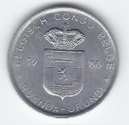 Ruanda-Urundi 1 Franc 1960-Aluminium (Al) - 1951-1960: Baldovino I