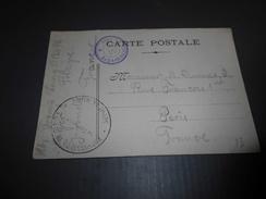 181 - Carte Postale , Cachet PRISONNIER DE GUERRE, Dépot De Blaye, Et VISA De L'Interprête, 1918 - Militaire Kaarten Met Vrijstelling Van Portkosten