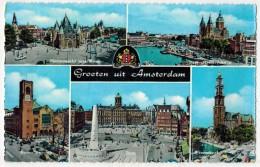 """PAYS BAS AMSTERDAM : """" Groeten Uit AMSTERDAM """" Multivue Circulé En 1961 - Amsterdam"""