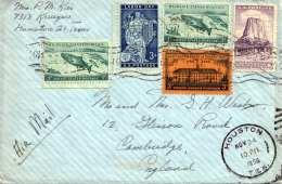 USA 1956 - LP-Brief Mit 5 Sondermarken, Gel.v.Housten Nach Cambridge - Vereinigte Staaten