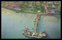 BISSAU - Vista Aérea Da Ponte Cais ( Ed. Foto Serra Nº 119) Carte Postale - Guinea Bissau