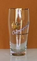 Ancien Verre à Bière Emaillé Brasserie Champigneulles  (bier, Beer) - Verres