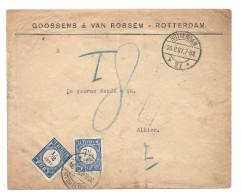 Nederland 1907 Ongefrankeerde Brief Met Strafport - Period 1891-1948 (Wilhelmina)