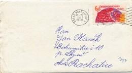 K9445 - Czechoslovakia (1977) Ceske Budejovice 2 (letter) Tariff: 60 H (stamp: Space Exploration - USSR / France)