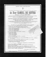 Devotie Doodsbrief Rouwbrief - Kamiel De Sutter - Lembeke 1881 - 1961 - Avvisi Di Necrologio