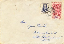K9447 - Czechoslovakia (1958) Veltrusy (letter) Tariff: 60 H (stamp: 30h EXPO 58 - Czechoslovak Jewelry)