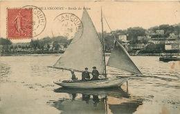 92  BILLANCOURT Bords De Seine  Voilier Animé   Voyagée En 1906 - Francia