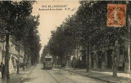92  BILLANCOURT Boulevard JEAN JAURES   TRAM   Voyagée En 1930 - Francia