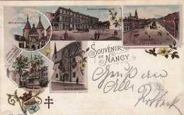 Litho Souvenir De NANCY - Gel. 1898 - Böhmen Und Mähren