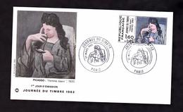 ENVELOPPE PREMIER JOUR - JOURNEE DU TIMBRE - PICASSO - 27 MARS 1982 - FDC