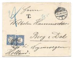 Nederland 1907 Ongefrankeerde Brief Met Strafport, Kleinrond Beek Bij Nijmegen - Period 1891-1948 (Wilhelmina)