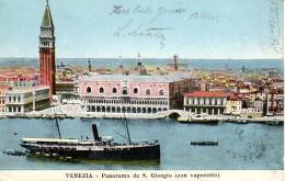VENEZIA - PANORAMA Da SAN GIORGIO CON VAPORETTO, 25.6.1905 - Venezia (Venice)