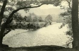 Angleterre Lake District Vallée De Borrowdale Campagne Ancienne Photo Amateur 1930 - Places