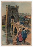 PARTHENAY--signée Homualk--Porte St Jacques (animée,attelage,costumes),cpsm 15 X 10   éd   Artaud - Parthenay
