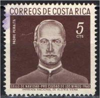 COSTARICA - 1960 - NATALE - CHRISTMAS - PADRE PERALTA - USATO - Costa Rica