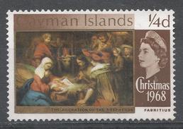 Cayman Islands 1968. Scott #203 (MNG) Christmas: Adoration Of Shepherds, By Carel Fabritius - Iles Caïmans