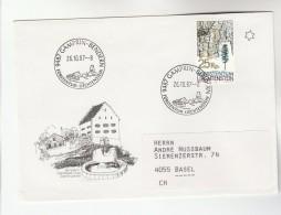 1987 LIECHTENSTEIN GAMBRIN BENDERN EVENT COVER Tree Stamps Forrest - Liechtenstein