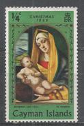 Cayman Islands 1969. Scott #243 (M) Christmas: Madonna And Child, By Alvise Vivarini - Iles Caïmans