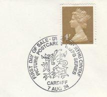 1974 Cardiff GB COVER  EVENT Pmk Illus DRAGON , WMPB - Mythology