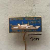 Badge (Pin) ZN003420 - Ship (Schiff / Boat) Liburnija Yugoslavia - Bateaux