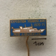 Badge (Pin) ZN003420 - Ship (Schiff / Boat) Liburnija Yugoslavia - Boats