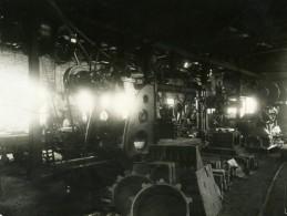 France Interieur D'Usine Machines Industrielles Photo Ancienne Anonyme 1900 - Photographs