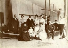 France Portrait De Groupe Barque Atelier Ancienne Photo 1900 - Photographs