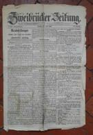 Journal Ancien - ZWEIBRUCKEN ( Rheinland Pfalz , Germany ) - Zweibrücker Zeitung - 1902 - Kranten