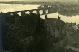 France Vue De Ville Pont Et Riviere Etude Photographique Ancienne Photo 1935
