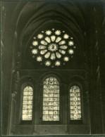 France Eglise Vitraux Etude Photographique Ancienne Photo 1935 - Photographs