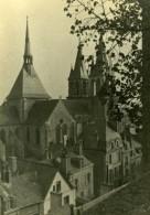 France Eglise Vue De Ville Etude Photographique Ancienne Photo 1935