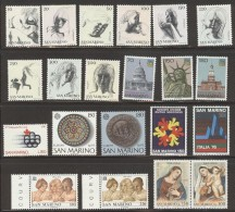 SAN MARINO - 1976 - Annata Completa - 22 Valori - Year Complete ** MNH/VF - Saint-Marin