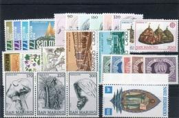 SAN MARINO - 1977 - Annata Completa + Posta Aerea - 26 Valori - Year Complete ** MNH/VF - Saint-Marin