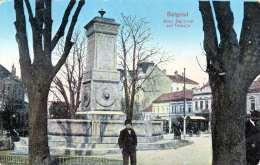 BELGRAD - Altes Denkmal Auf Terazija, Als K.u.K Heeresbahn.Feldpost Gel.1916 Von Obrenova? Nach Wien, Stempel K.u.K ... - Serbien