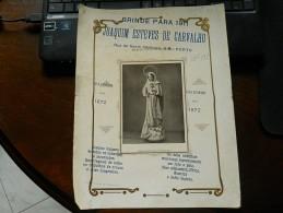 ECM Advertising // Brinde Para 1911 // Joaquim Esteves De Carvalho // Porto // Sagrado Coração De Maria - Reclame