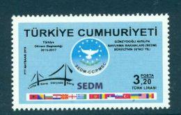 TURKEY 2016 20TH ANNIV. OF SEDM MNH M07458 - 1921-... Republic