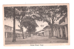 TANGANYIKA Tanga Market Street POSTCARD UNUSED - Tanzania