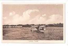 TANGANYIKA Tanga Harbour WITH A SEAPLANE SEA PLANE ON THE WATER POSTCARD UNUSED - Tanzania