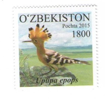 Uzbekistan 2015 - Upupa Epops, 1 Stamp,  MNH