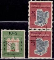 Germany 1953, IFRABA -Int'l. Stamp Exhibit- Frankfurt, Sc#B332,334, Used - BRD