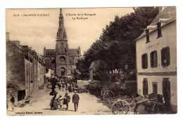 Cpa Sainte Anne D Auray (56) L Entree De La Bourgade- La Basilique ( Belle Animation Et Attelage )  Cpa56 - Sainte Anne D'Auray