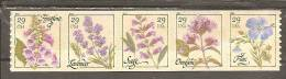 USA. Scott # 4513-17a, MNH. Coil Strip Of 5. Flowers  2011 - Roulettes