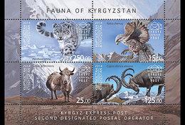 KYRGYZSTAN 2014. Miniature Sheet. Fauna Of Kyrgyzstan Eagle Snow Leopard - Kyrgyzstan