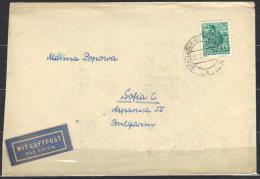 1-695 // DDR -BRIEF  Aus  WANZLEBEN / Bez. MAGDEBURG   Nach  SOFIA  1962 - Briefe U. Dokumente