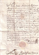 SUISSE - BREVET D'ENSEIGNE DE LA COMPAGNIE DE WLLYAMOR - BAILLI DE LAUSANNE - 1745 - PERIODE LOUIS XV. - Autographs
