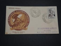 FRANCE / ALGÉRIE - Enveloppe FDC Des Anciens Combattants 1954 - A Voir - L 4630 - Algérie (1924-1962)