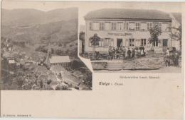 CPA 67 STEIGE Restaurant Louis MUNSCH Carte Allemande 1904 - Frankreich