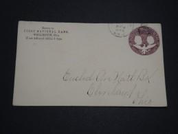 ETATS UNIS - Entier Postal De Wellington Pour Cliveland En 1894 - A Voir - L 4637
