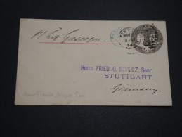 ETATS UNIS - Entier Postal De New York Pour L ' Allemagne Via Paris En 1894 - A Voir - L 4639